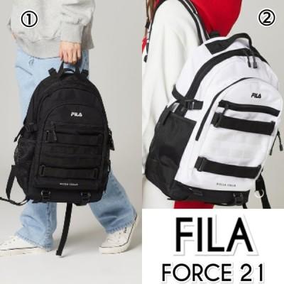 フィラ FILA BTS 着用モデル FORCE21 バックパック 黒 白 メンズ レディース