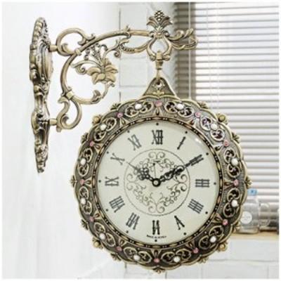 両面時計 掛け時計 シルクスマイル両面時計 おしゃれ 両面時計アンティーク 壁掛け時計両面時計 北欧 時計