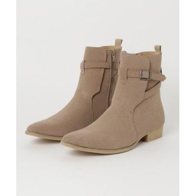 ZealMarket/SFW / 履いた時のシルエットがきれいなベルトヒールデザインブーツ MEN シューズ > ブーツ