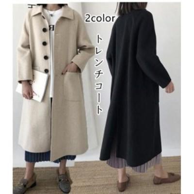 トレンチコート レディース チェスターコート  春 秋 冬 アウター スプリングコート 大きいサイズ 韓国風 ロング丈ジャケット ゆったり