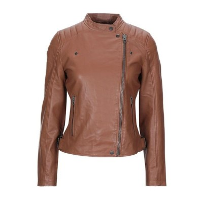 PEPE JEANS バイカージャケット ファッション  レディースファッション  ジャケット  ブルゾン、ジャンバー ブラウン