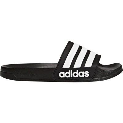 アディダス サンダル シューズ メンズ adidas Men's Adilette Shower Slides Black/White