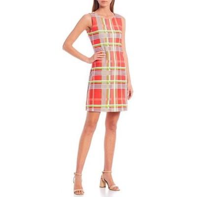 ジュードコーナリー レディース ワンピース トップス Beth Sleeveless Paisley Jewel Neck A-Line Dress