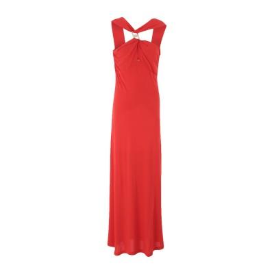 CLIPS ロングワンピース&ドレス レッド M レーヨン 72% / ポリエステル 28% ロングワンピース&ドレス