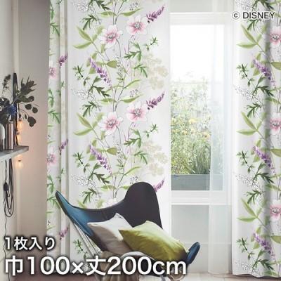 カーテン ディズニーファン必見 スミノエ Disney 既製カーテン MICKEY/ Wild flower(ワイルドフラワー) 巾100×丈200cm*M-1157-L