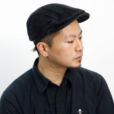 MAYSER ハンチング メンズ カシミア混 ウール Frankie ハンチング 帽子 ストライプ マイザー ハンチ