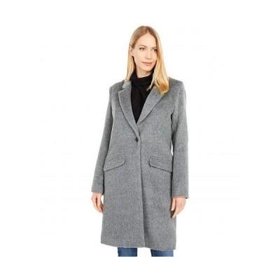 Cole Haan コールハーン レディース 女性用 ファッション アウター ジャケット コート ウール・ピーコート Single Breasted Wool Blend Coat - Medium Grey