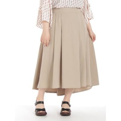 【大きいサイズ】【3-6L】タックヘムラインスカート 大きいサイズ スカート レディース