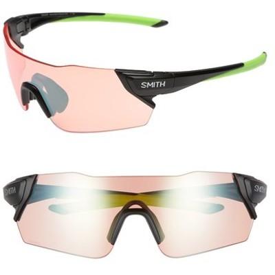 スミス サングラス&アイウェア アクセサリー レディース Attack 125mm ChromaPop Polarized Shield Sunglasses Matte Black Reactor/ Green