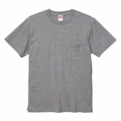 Tシャツ 半袖 メンズ ポケット付き ハイクオリティー 5.6oz S サイズ ミックスグレー 無地 ユナイテッドアスレ CAB