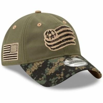 New Era ニュー エラ スポーツ用品  New Era New England Revolution Green Military Appreciation 9TWENTY Adjustable Hat