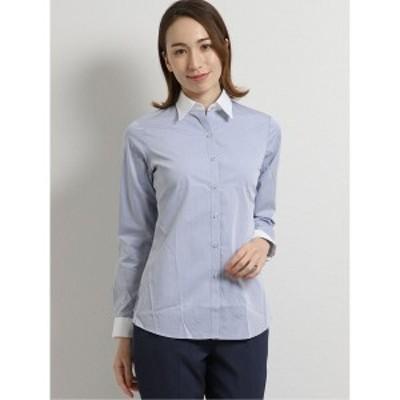 タカキュー(TAKA-Q)/イージーケア綿100% レギュラーカラークレリック長袖シャツ