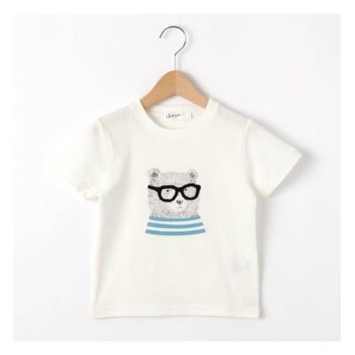 【デッサン/Dessin】 【100~140cm】ベアグラフィッククルーネックTシャツ