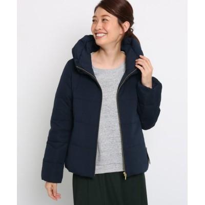 【デッサン】 ジャージダウンジャケット レディース ネイビー 01(S) Dessin