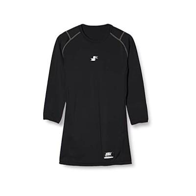 [エスエスケイ] アンダーシャツ SCβやわらかローネック7分袖フィットアンダーシャツ メンズ SCB019L7 ブラック (90) L