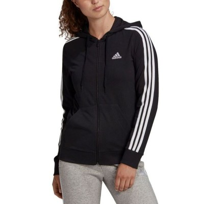 アディダス レディース ジャケット・ブルゾン アウター Women's Essentials Full-Zip 3 Stripes Hoodie