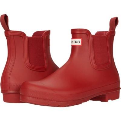 ハンター Hunter レディース シューズ・靴 Original Chelsea Military Red