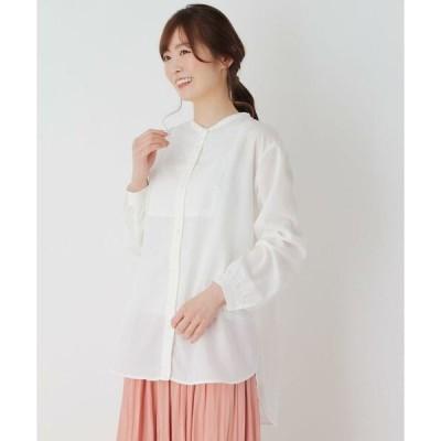 pink adobe / ピンクアドベ 【M-3L】ビブ切り替えバンドカラーシャツ