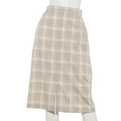 Doux archives (ドゥアルシーヴ) レディース TRチェックタイトスカート BEIGE M