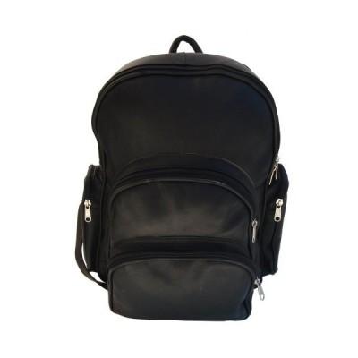 Piel 7654-BLK Black Expandable Backpack【並行輸入品】