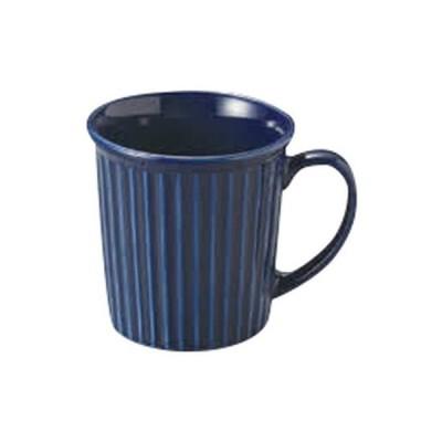 マグカップ 洋食器 / 紺 レリーフマグ 小 寸法:11 x 8.5 x 9cm 300cc