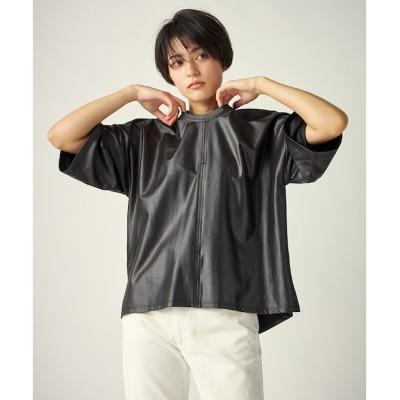 【マルシェ ド クリアインプレッション/MARCHE de CLEAR IMPRESSION】 《musee》レザータッチプルオーバー