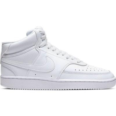 ナイキ スニーカー レディース シューズ Nike Court Vision Mid White / White / White