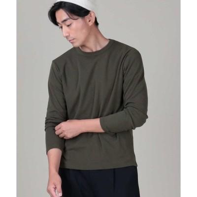 tシャツ Tシャツ 【PLUS ONE】抗菌防臭フライスクルーネックロンT