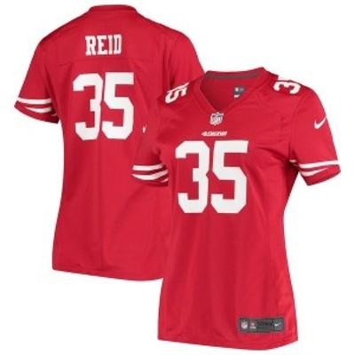 ナイキ レディース Tシャツ トップス Eric Reid San Francisco 49ers Nike Women's Game Jersey Scarlet
