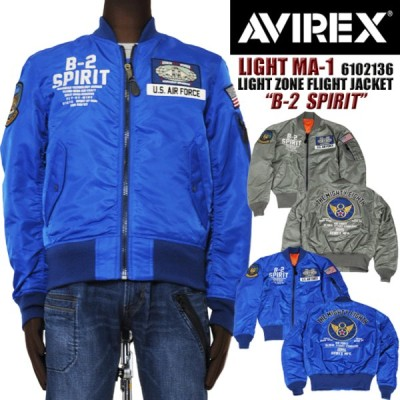 AVIREX アビレックス アヴィレックス 6102136 ライトMA-1 B-2 SPIRIT メンズ ブルゾン ma-1 正規販売店 送料無料