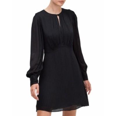 ケイトスペード レディース ワンピース トップス fluid stripe dress BLACK