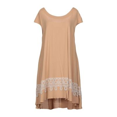 LA KICCA ミニワンピース&ドレス キャメル 42 レーヨン 98% / ポリウレタン 2% ミニワンピース&ドレス