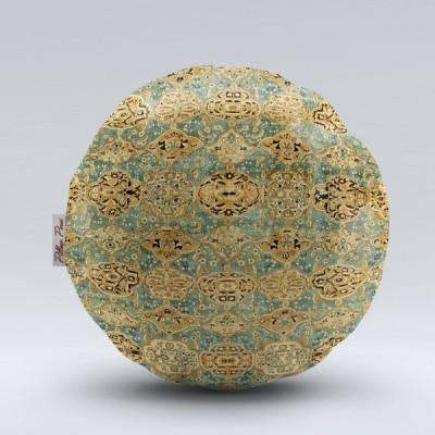 クッションカバー ピローペルシブランド 丸形 ペルシャ絨毯柄 クラシックシリーズ