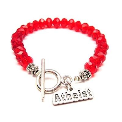 Atheist クリスタル トグル ブレスレット in クリムソン レッド(海外取寄せ品)