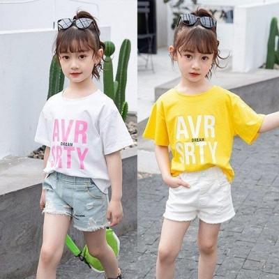 キッズtシャツ夏服半袖女の子韓国子供服ブラウストップスカットソーTシャツベビー服子供服可愛いカジュアルお出かけおしゃれ