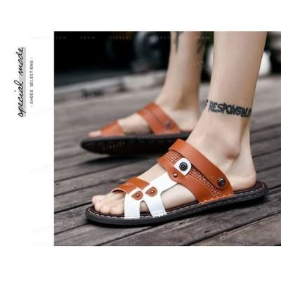 サンダルメンズビーチサンダル快適履靴ボヘミア夏の靴メンズシューズストラップローマシューズ