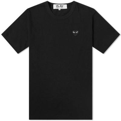 コム デ ギャルソン Comme des Garcons Play メンズ Tシャツ ロゴTシャツ トップス Basic Logo Tee Black/Black