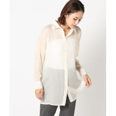 (Mew's/ミューズ)シアーポケットシャツ/レディース アイボリー