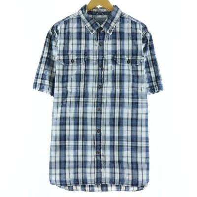 カーハート Carhartt 半袖 ボタンダウンチェックシャツ メンズXL /eaa147551