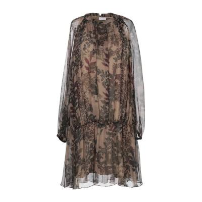 ブルネロ クチネリ BRUNELLO CUCINELLI ミニワンピース&ドレス カーキ S シルク 100% ミニワンピース&ドレス