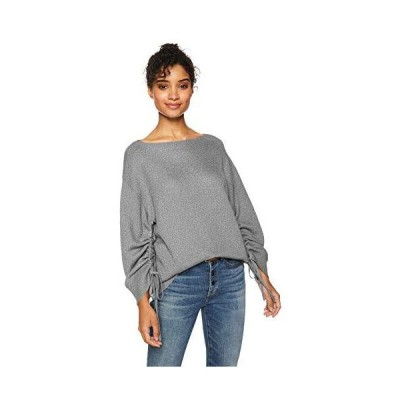 Cable Stitch Women's Ruched Sleeve Sweater Heather Grey Small並行輸入品 送料無料
