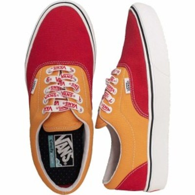 ヴァンズ Vans レディース スケートボード シューズ・靴 - ComfyCush Era (Lace Mix) Red/Cadmium YLW - Shoes multicolored