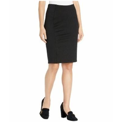 リバプール レディース スカート ボトムス Reese High-Rise Pencil Skirt in Stretchy Stripe Knit Black