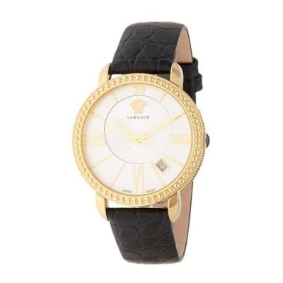 ヴェルサーチ 腕時計 アクセサリー レディース Women's Krios Leather Strap Watch, 38mm -