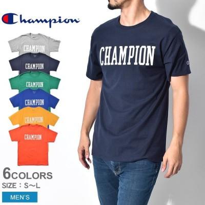 ( 割引クーポンあり ) ( メール便可 ) チャンピオン メンズ Tシャツ 半袖 カレッジフォントロゴ Tシャツ GT23H ブランド 服 CHAMPION 夏 父の日