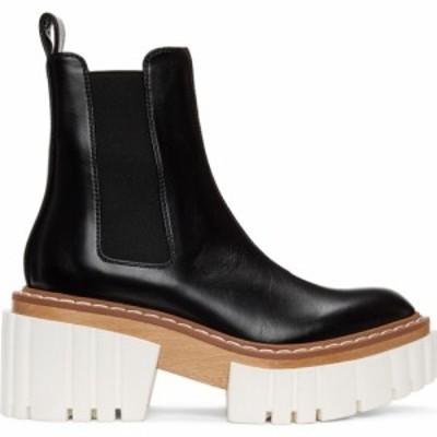 ステラ マッカートニー Stella McCartney レディース ブーツ チェルシーブーツ シューズ・靴 Black and White Emilie Chelsea Boots Blac