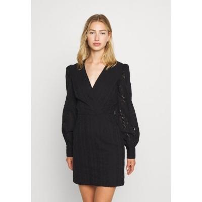 エヌ エー ケイ ディ ワンピース レディース トップス CROCHET DRESS - Day dress - black