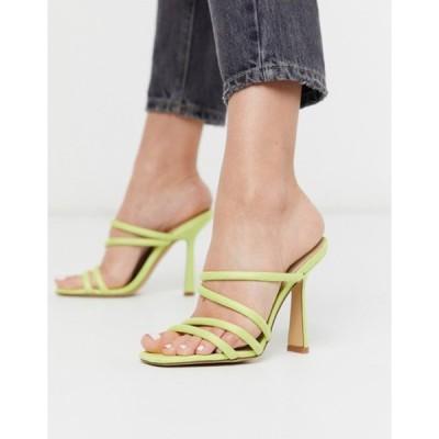 アルド レディース サンダル シューズ ALDO Arianna strappy heel sandal in lime yellow