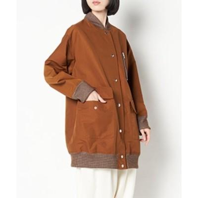 ジャケット ブルゾン SRIC/《La SRIC》オーバーサイズリブ襟コート