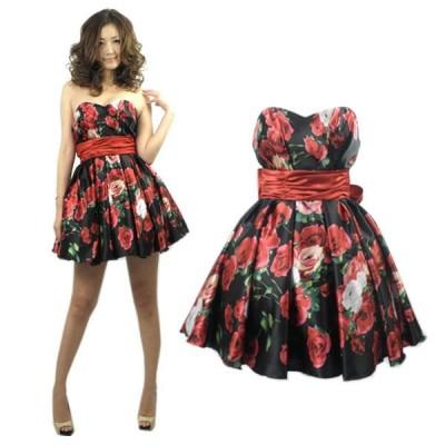 ドレス/結婚式/二次会/パーティードレス/フォーマル/ウェディング/ヴィンテージプリント
